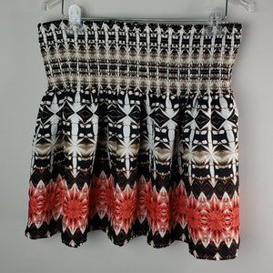 White House Black Market Large Pattern Skirt